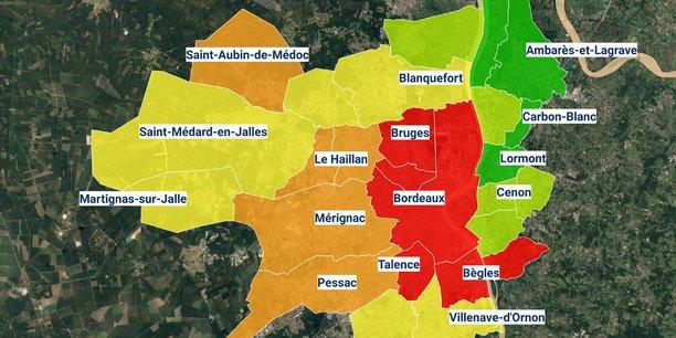 Dans la métropole bordelaise, les prix moyens au m2 oscillent entre 1.800 et plus de 4.500 €.