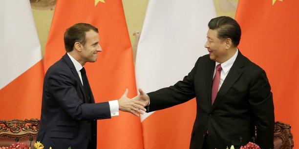 Emmanuel Macron et le président chinois Xi Jinping