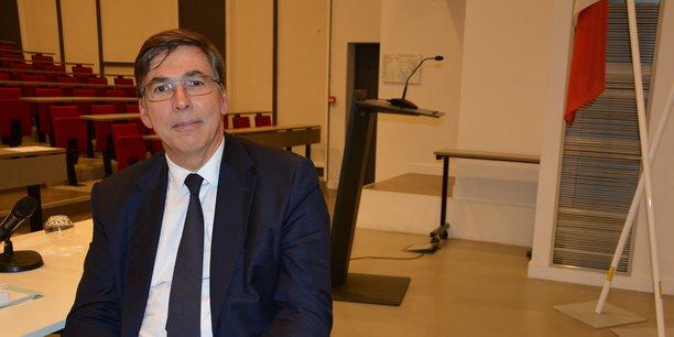 Denis Beau dans l'amphithéâtre de Sciences Po Bordeaux