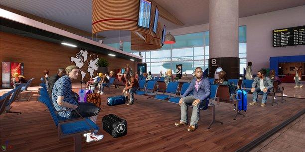 Un univers virtuel fortement inspiré de l'aéroport de Toulouse a été recréé.