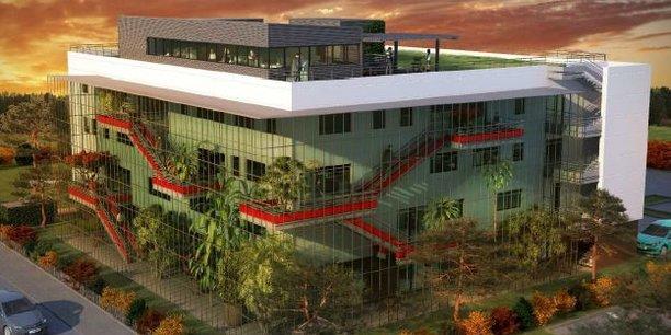 L'immeuble en R+4 présentera notamment une double façade avec serre bioclimatique