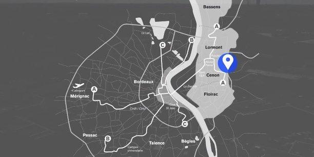 La zone d'activité économique Jean Zay est située à Cenon sur la rive droite de la métropole bordelaise.
