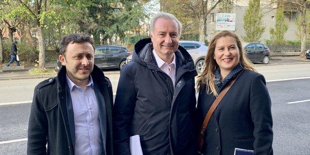 Jean-Luc a présenté ses deux nouveaux colistiers mardi 12 novembre, à Toulouse, en vue des élections municipales de mars 2020.