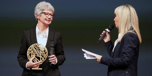 Le trophée d'Ambassadrice de l'année a été remis à Muriel Nègre, présidente de la Bambouseraie en Cévennes