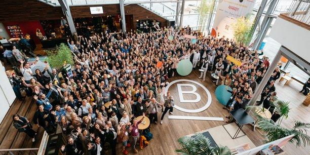 Les entreprises labellisées B Corp lors du World Summit à Amsterdam, en 2019.