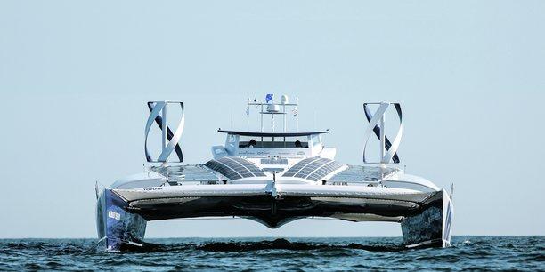 Le catamaran Energy Observer, propulsé aux énergies renouvelables, poursuivra sa route jusqu'en 2022.