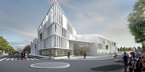 Le Connecteur, à Biarritz, financé par le Crédit agricole Pyrénées Gascogne et dessiné par Camborde Architectes sera livré au printemps 2021.