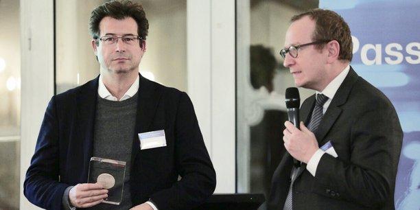 Andrea Bertone, Chief Revenue Officer d'OpenClassrooms, et Laurent Bigorgne, directeur de l'institut Montaigne.