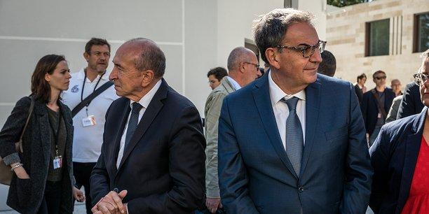 Bien qu'il n'ait pas été investi par Emmanuel Macron, David Kimelfeld (à dr.) s'opposera à Gérard Collomb, maire actuel de Lyon (à g.).