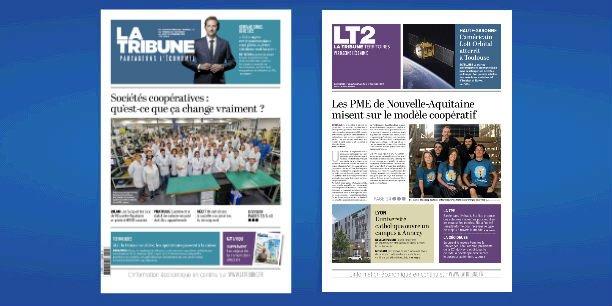 Les PME de Nouvelle-Aquitaine misent sur le modèle coopératif, à la Une de l'hebdomadaire La Tribune ce vendredi 29 novembre 2019.