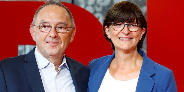 Norbert Walter-Borjans et Saskia Esken, le nouveau tandem élu à la présidence du SPD.