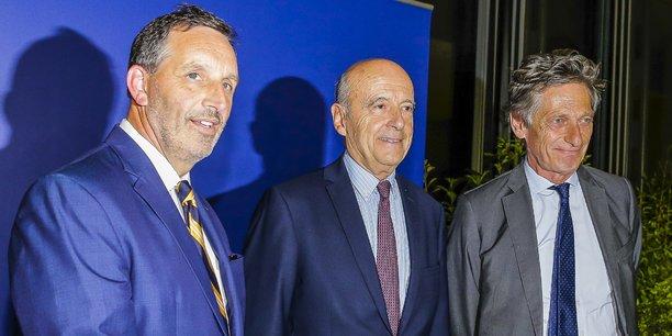 Joseph Dagrosa l'an dernier lors de la conclusion de l'accord de reprise des Girondins avec Alain Juppé et Nicolas de Tavernost pour le groupe M6.