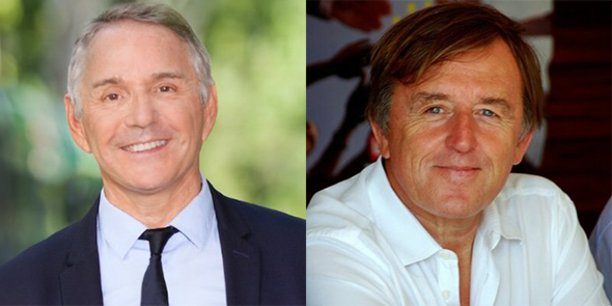 Patrick Vignal, député de l'Hérault, et Yvan Lachaud, président de Nîmes Métropole