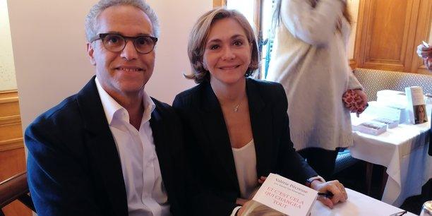 Le président de la CPME Paris Île-de-France Bernard Cohen-Hadad et la présidente du conseil régional d'Île-de-France Valérie Pécresse.