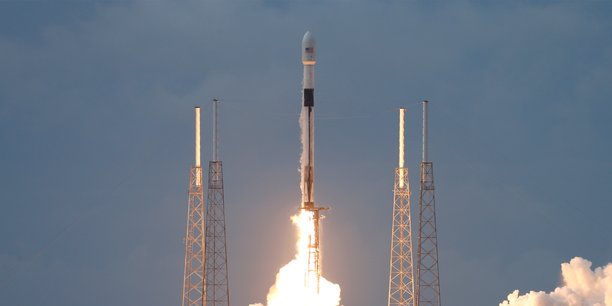 Photo d'archive datée du 6 août 2019. SpaceX utilise ses propres Falcon 9, qui sont réutilisables.