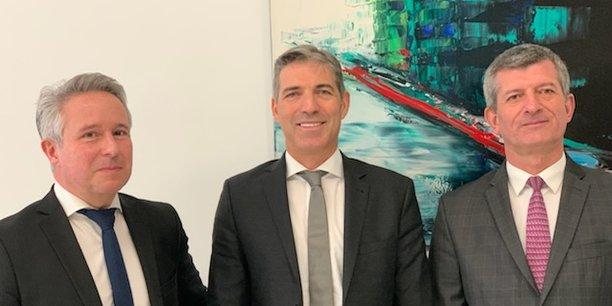 Lucas Sarlange (Pôle communication), Alexandre Salas-Gordo (président) et Eric Dumartin (Pôle services aux confrères).