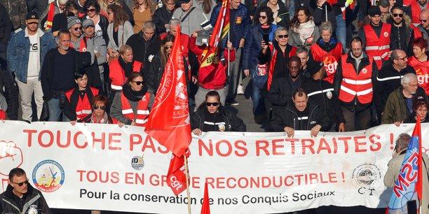 À Marseille, la manifestation contre la réforme des retraites, aujourd'hui jeudi 9 janvier 2020.