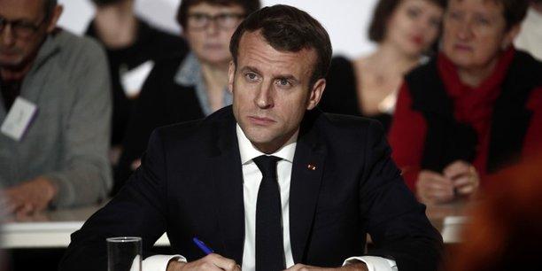 Un référendum, c'est ce qui permettra de partager avec tout le monde la préoccupation sur le sujet, a affirmé Emmanuel Macron lors d'une séance de questions-réponses avec les membres de la Convention au Cese (Conseil économique, social et environnemental) à Paris.