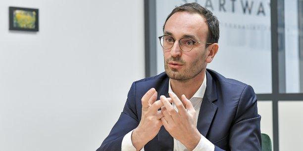 Thomas Cazenave, le candidat de Renouveau Bordeaux, investi par LREM, à l'élection municipale à Bordeaux.