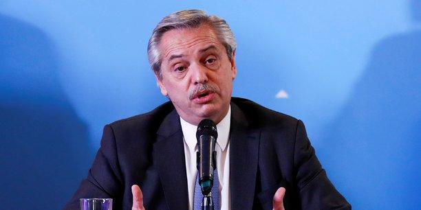 Alberto Fernandez (en photo) est arrivé au pouvoir en pleine crise économique.