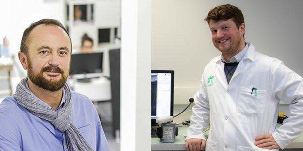 Frédéric Bonfils, directeur général de Loisirs Enchères, et Maxime Feyeux président de Treefrog Therapeutics.