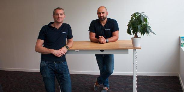 Franck Taverriti, à gauche, et Nicolas Fabries, à droite, sont les fondateurs de la société Makiba.