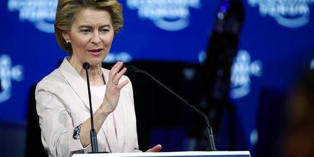 La présidente la Commission européenne Ursula von der Leyen au forum économique de Davos.