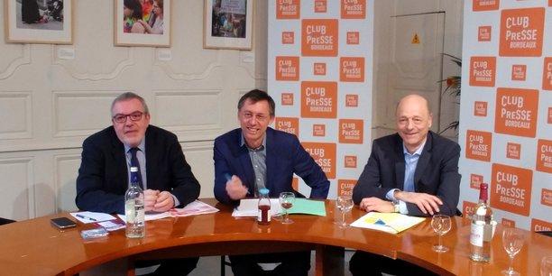Pascal Emile, Henri Lourde Rocheblave et Philippe Claussin, le 23 janvier à Bordeaux.