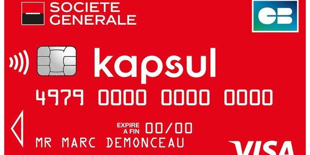 Face aux néobanques, Société Générale riposte avec l'offre Kapsul