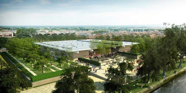 Visuel d'architecte du musée Narbo Via, à Narbonne, livrable cet automne