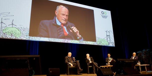 Alain Rousset, président de la Région Nouvelle-Aquitaine, à l'occasion d'une plénière des Assises européennes de la transition énergétique à Bordeaux ce 28 janvier.