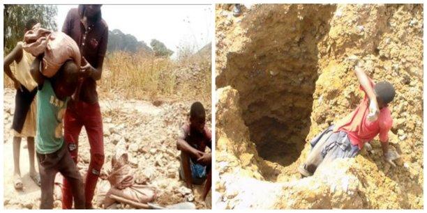 Des enfants travaillant dans des mines de cobalt en RDC, dans la plainte déposée par IRAdvocates, le 15 décembre 2019 à Washington.