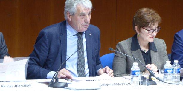 Jacques Gravegeal, président du syndicat de l'IGP Pays d'Oc, et Florence Barthès, directrice générale