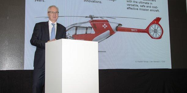 Nous avons une cabine en termes de volume utile qui est proche du H145. Mais nous vendons le SH09 au prix d'un monomoteur, soit environ 3,5 millions de dollars, a expliqué le PDG de Kopter, Andreas Löwenstein