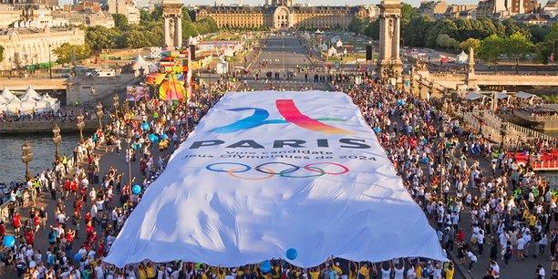 Lors de l'annonce, en 2017, de la victoire de Paris pour l'organisation des JO d'été en 2024.