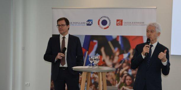 Jérôme Terpereau, président du directoire de la CEAPC,  et Jean-Pierre Levayer, directeur général de la BPACA.
