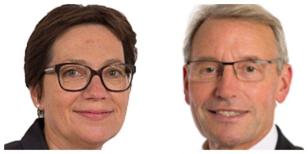 Corinne Imbert et René-Paul Savary