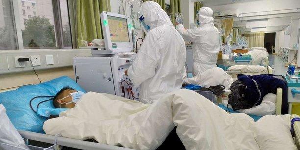 A l'Hôpital central de Wuhan , en Chine, le 25 janvier dernier.