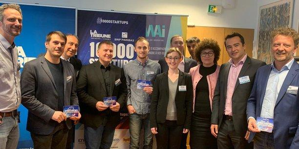 Le jury et les lauréats de l'étape marseillaise de 10000 startups pour changer le monde.