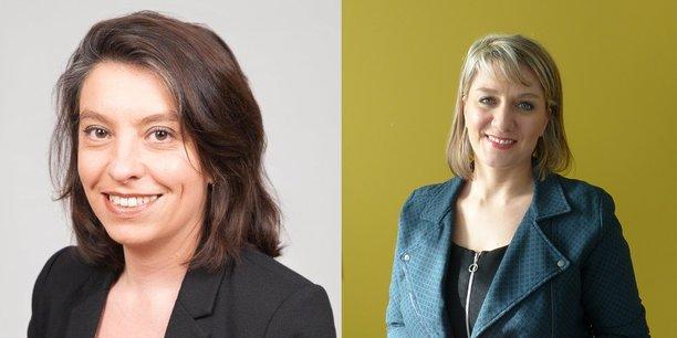 Samirah Deat à gauche et Marie-Emilie Wachter à droite intègrent le comité de direction de la Banque Populaire Auvergne Rhône Alpes.