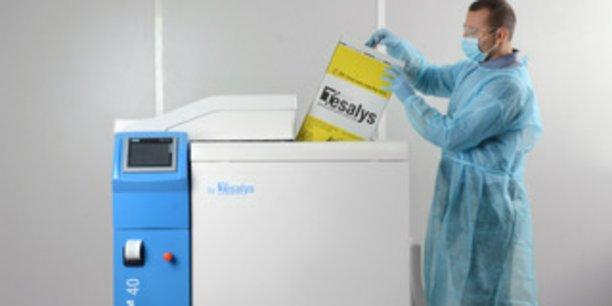 Les machines de Tesalys ressemblent à de grosses machines à laver.