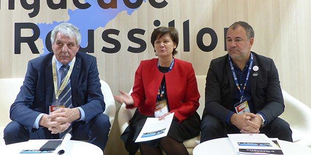 De gauche à droite : Jacques Gravegeal, président d'Inter Oc, Miren de Lorgeril, président du CIVL et Stéphane Zanella, trésorier du CIVR