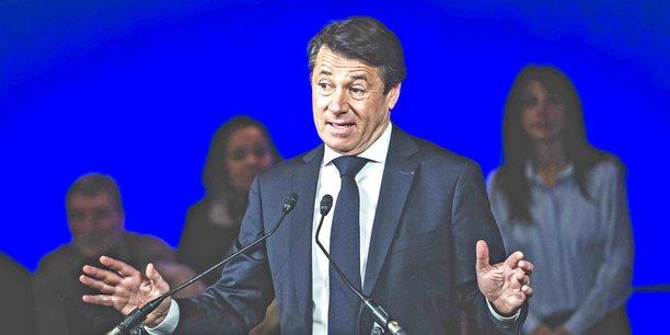 Christian Estrosi, maire sortant et candidat à sa propre succession, lors de son premier meeting de campagne à Nice, le 19janvier.