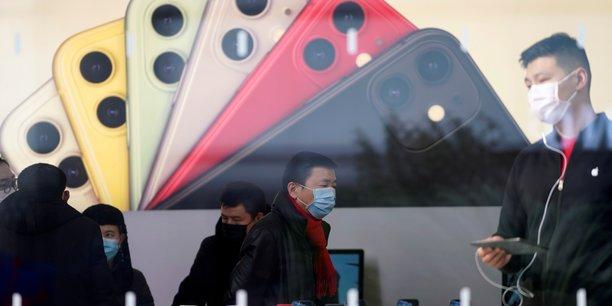 Apple a annoncé lundi que sa prévision de chiffre d'affaires pour le deuxième trimestre ne serait sans doute pas atteinte en raison de l'épidémie en Chine, pays crucial pour l'entreprise américaine.