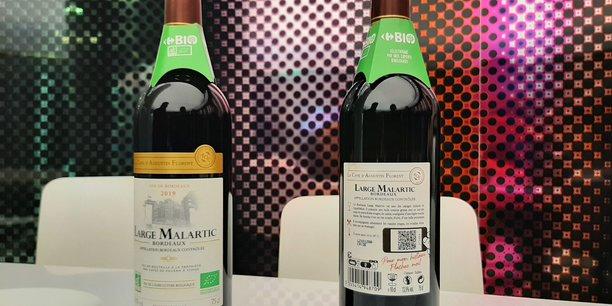 Grâce au QR code présent sur l'étiquette, les consommateurs peuvent accéder à une interface regroupant des informations sur le parcours du produit, de la vigne jusqu'à sa mise en rayon.