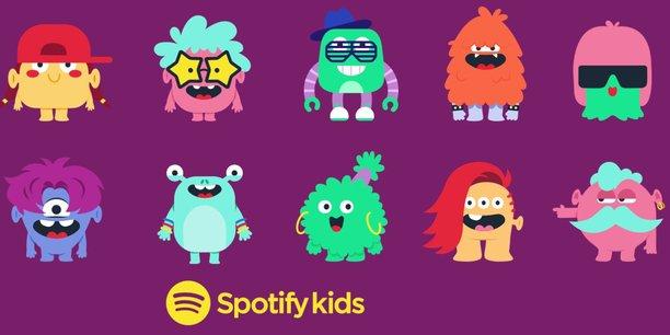 L'application Spotify Kids permet aux enfants d'accéder à 6.000 chansons - contre plus de 50 millions de titres pour la version adulte.