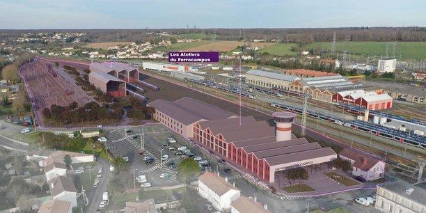 Les futurs ateliers du Ferrocampus à Saintes (Charente-Maritime).