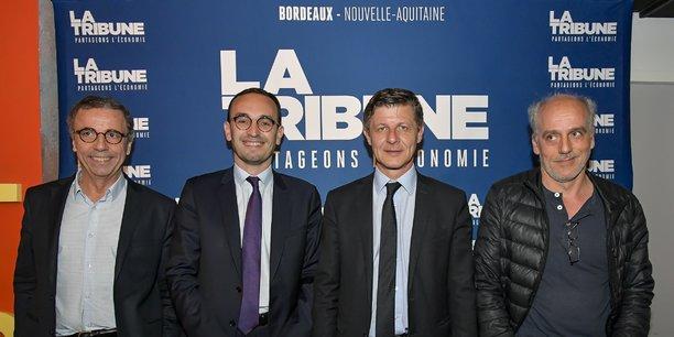 Pierre Hurmic, Thomas Cazenave, Nicolas Florian et Philippe Poutou ont débattu sur les sujets économiques, ce mercredi 4 mars.