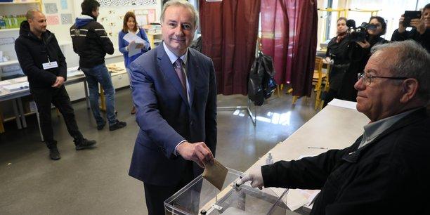 Le candidat aux élections municipales à Toulouse Jean-Luc Moudenc mise sur les grands projets de mobilités pour soutenir l'emploi.