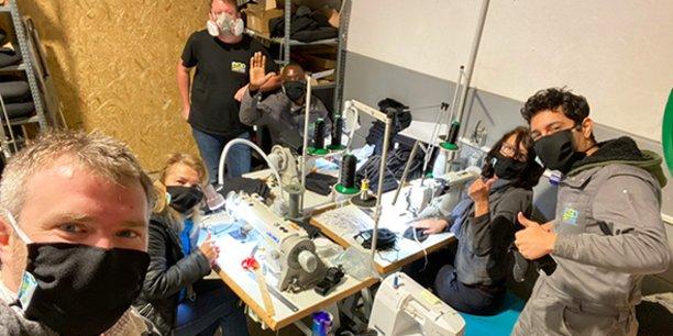 L'entreprise gardoise ErgoSanté profite de l'arrêt de ses chaînes de production pour fabriquer des masques de protection en tissu.